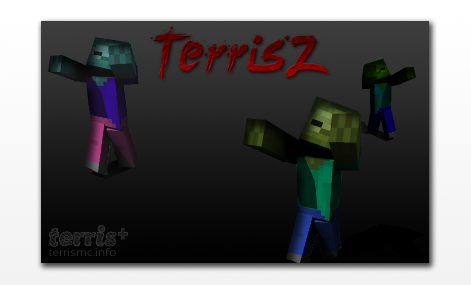 First concept poster for a new zombie survival mode server called TerrisZ.