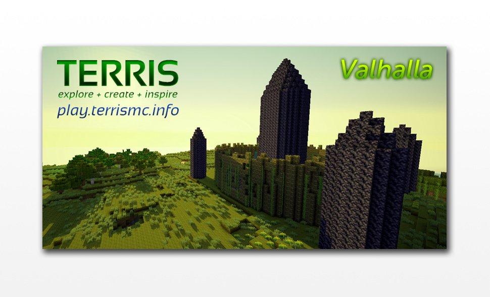Marketing banner for Valhalla, a new unforgiving world with no convenience and quality of life plugins.